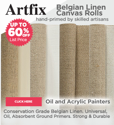 ArtFix Belgian Linen Canvas Rolls up to 60% OFF Sale