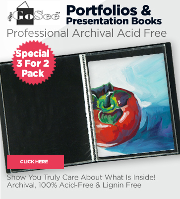 Artist Portfolio and presentation books on sale