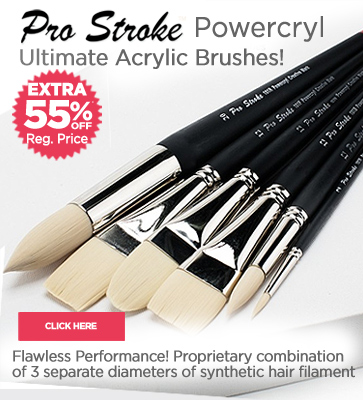 Pro Stroke Powercyl Acrylic Painting Brushes Extra 55% OFF