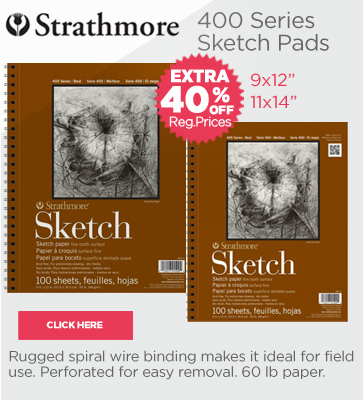 Strathmore 400 Series Sketch Pads Up To Extra 30% OFF Reg. Prices