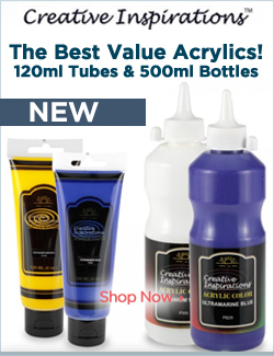 The Best Value For Acrylic Paints! Better Paints, Better Value! 120ml Tubes & 500ml Bottles