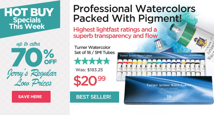 Hot Buys - Turner Watercolor Set of 18 only $20.99