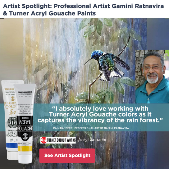 Artist Spotlight Gamini Ratnaviraturner-acryl-gouache