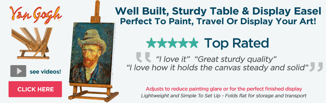 The Van Gogh Lightweight Table Top Studio Easel - Also Great For Travel And Display
