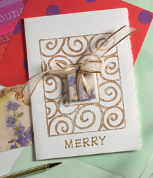 get creative for the holidays and make your own greeting cards