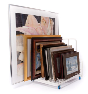 Made From Durable, Lightweight Enameled Steel, Dryden Art And Canvas  Keepers Are Available In Two Models: The Larger Floor Model With Casters  And A Handle ...