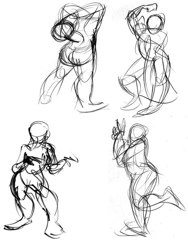 Practice With Gesture Motion Drawings Jerrysartarama Com