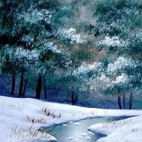 WINTER STREAM Project Lesson in Oils by Wilson Bickford
