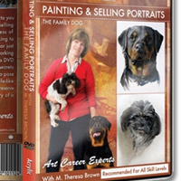 Painting and Selling Portraits – the Family Dog by M Theresa Brown