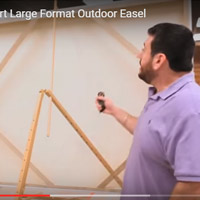 Prove it-Part 2 – how does the Beauport large format outdoor easel stand up to high winds coming from different angles?