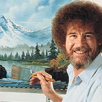 Introducing the Bob Ross Inspirational Happy Afro Painting Wig