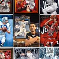 Justyn Farano of Sports Art Illustrated in Jerry's Artist Spotlight