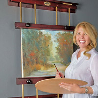The Rue Wall Easel is the Space Saving Easel for any Home, Studio or Dorm