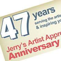 Jerry's Artarama 47th Anniversary Sales Event Kick Off