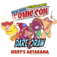 Jerry's Sponsors Dare 2 Draw TV Show NYCC