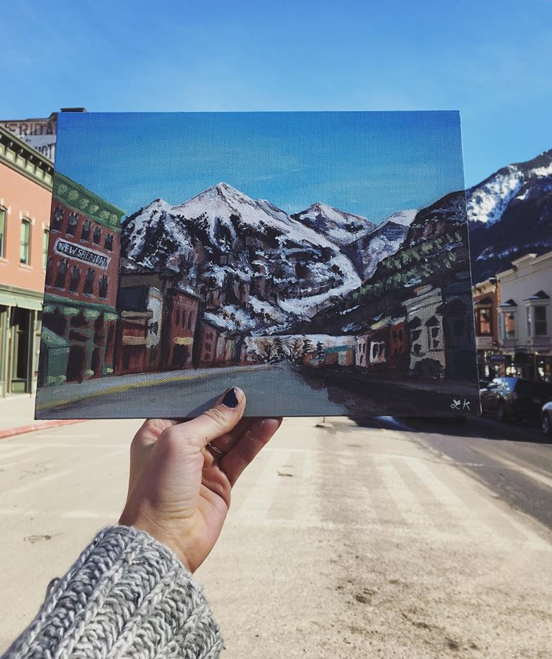 telluride_painting Plein Air Painting Coloarado with Lisa Marie