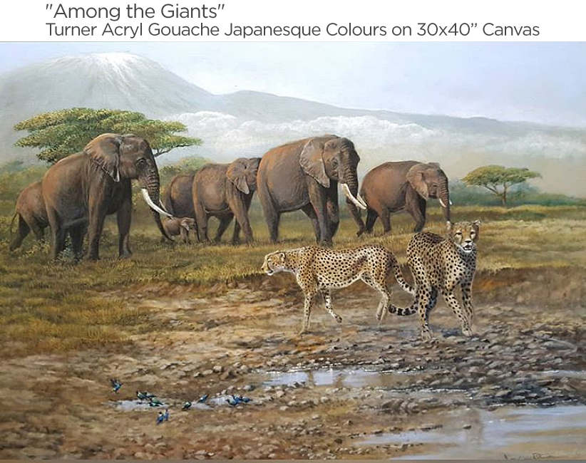 Gamini-Ratnavira-AmongtheGiants-30x40-turner-acryl-gouache-japenesque-colours-canvas