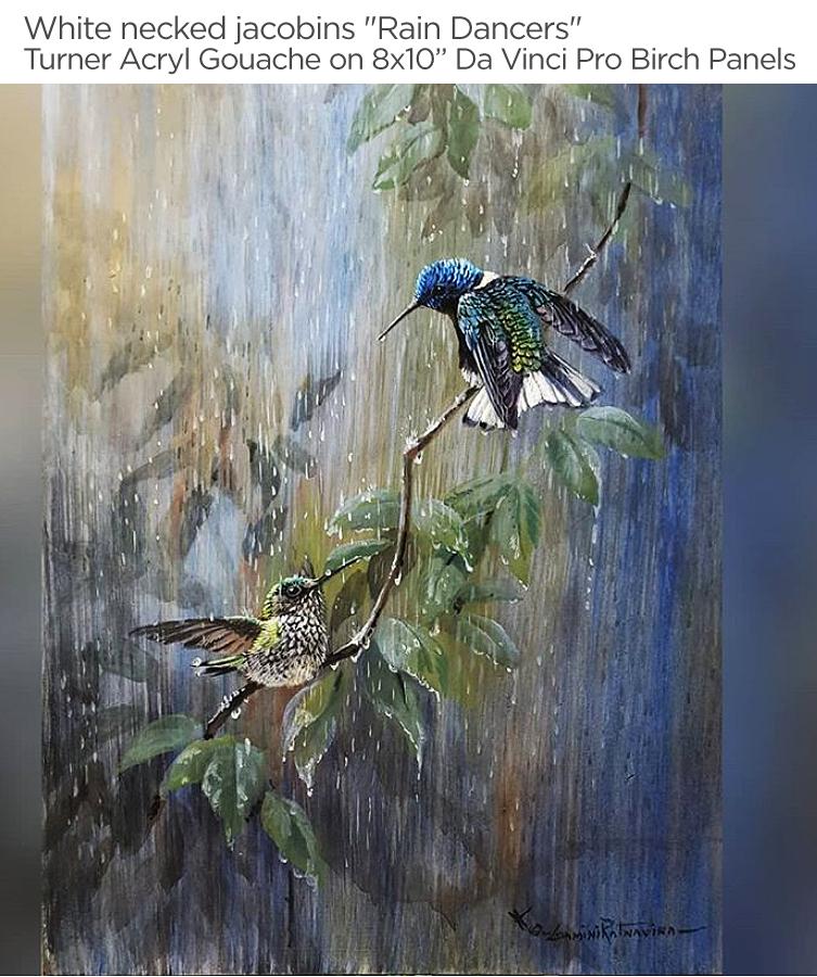 Gamini-Ratnavira-Raindancers-turner-acryl-gouache-davinci-pro-birch-panels
