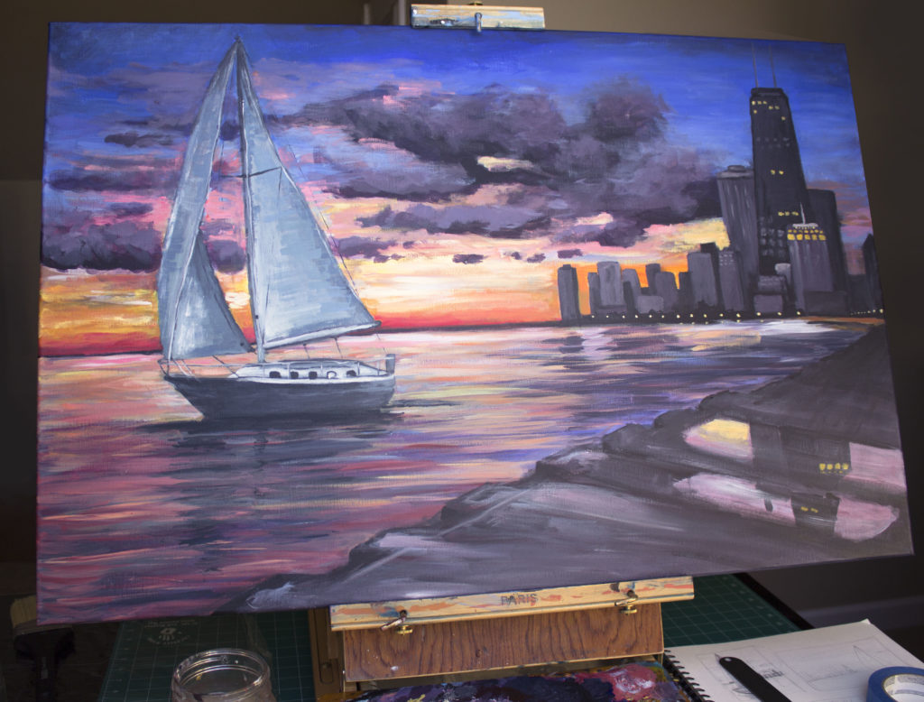 Creative Adventures Episode 3 sailboat painting composition