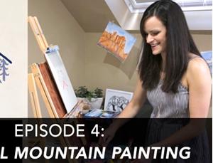 Creative Adventures Episode 4: Minimal Mountain Painting