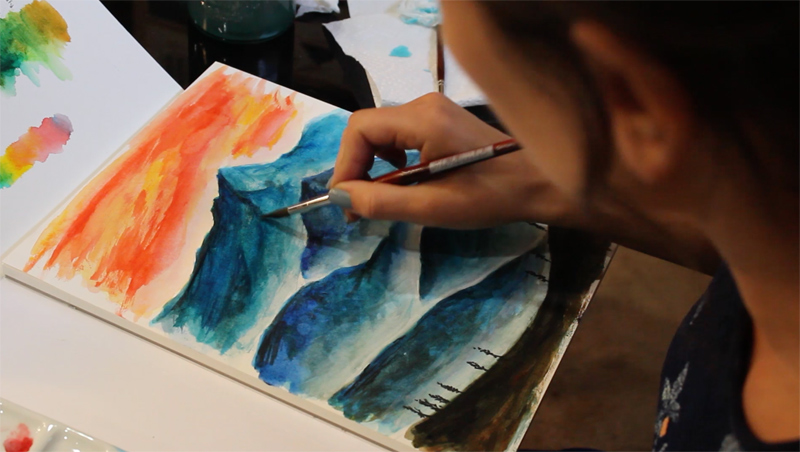 Painting Mountains with Turner Watercolors