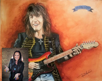 Commissioned to paint a portrait of Richie Sambora by Roseann Madia