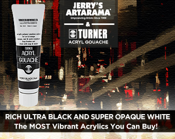 Rich Ultra Black and Super Opaque White – Turner Acryl Gouache