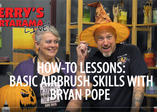 How-To Lessons: Basic Airbrush Skills & How it can be integrated into your artwork – Jerry's Live Episode #81