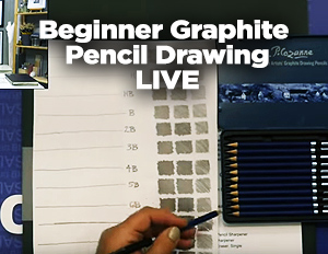 Beginner Graphite Pencil Drawing – Jerry's Live #91