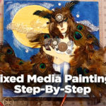 Mixed Media Painting Step-By-Step Watch and Paint Along from Start to Finish-Jerry's Live #90