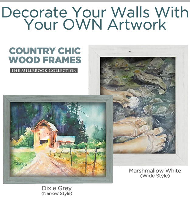 White and Grey Wood Frames for Home Decor