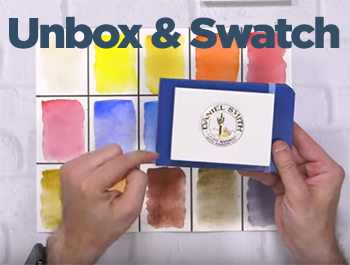Unbox & Swatch – Daniel Smith Watercolors – Ultimate Mixing Set of 15