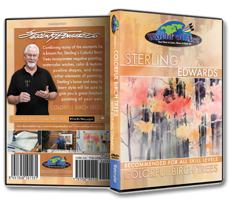 """Colorful Birch Trees"" DVD with Sterling Edwards"