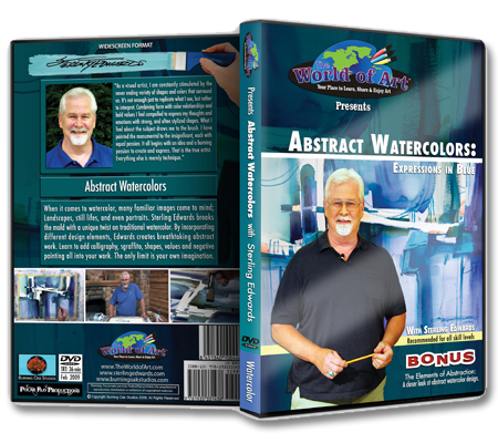 """Abstract Watercolors: Expressions In Blue"" DVD with Sterling Edwards"