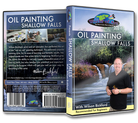 """Oil Painting: Shallow Falls"" DVD with Wilson Bickford"