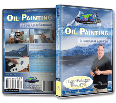 """Oil Painting: A Four Color Landscape"" DVD with Wilson Bickford"