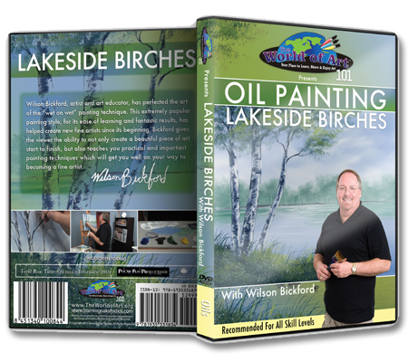 """Oil Painting: Lakeside Birches"" DVD with Wilson Bickford"