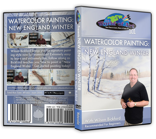 """Watercolor Painting: New England Winter"" DVD with Wilson Bickford"