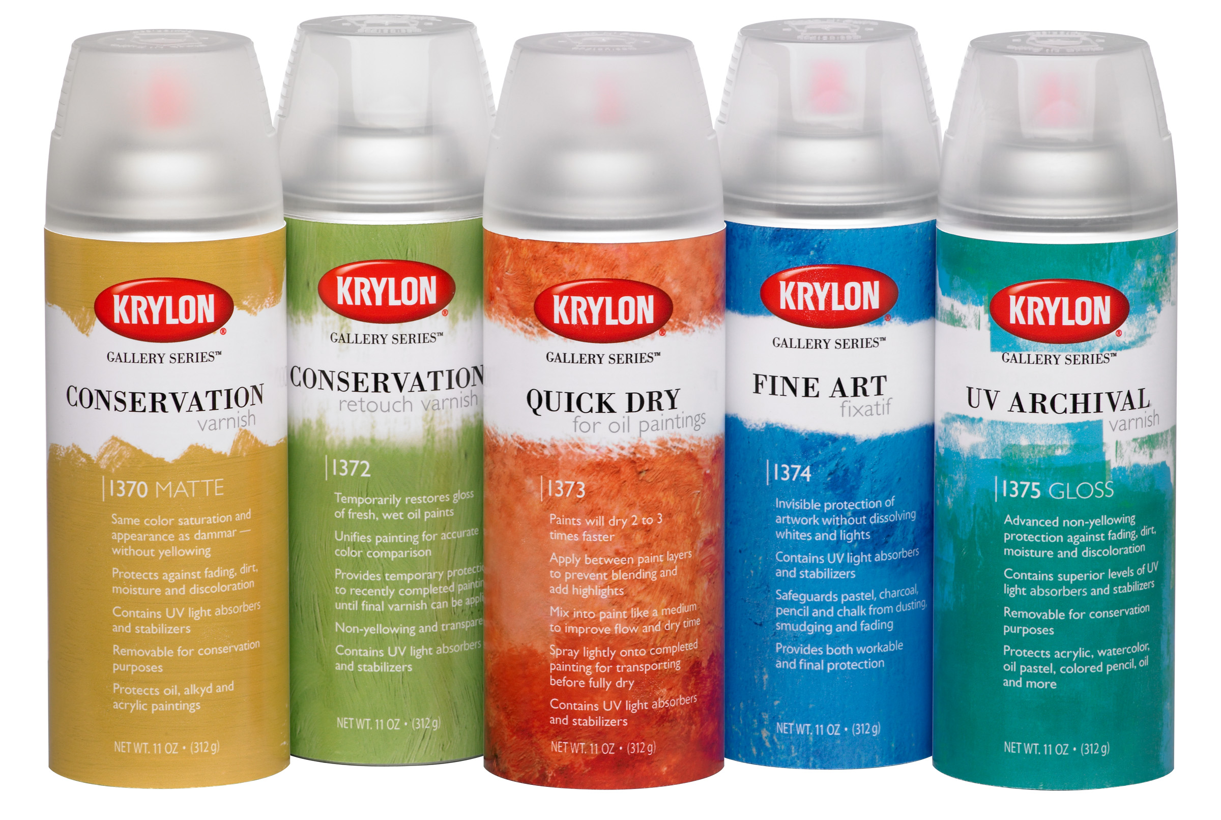 Krylon Gallery Series Spray Artist Fixatives
