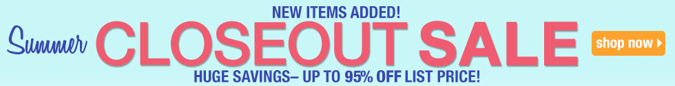 Shop Just added Closeouts Reduced - While Supplies Last