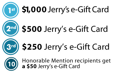 Jerry's Gift Card Prizes for Contest Winners