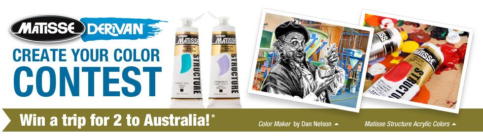 Matisse Derivan Create Your Color Contest! Win a trip for 2 to Australia!