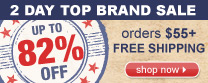 2 Day Sale Top Brands Online Only - Up to 82% OFF