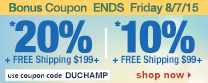 Save up to 20% Off Orders Over $199 + Free Shipping | Use Code duchamp