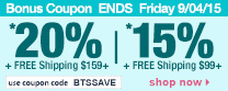 Save up to 20% Off Orders Over $159 + Free Shipping | Use Code btssave