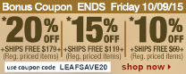 Save up to 20% Off Orders Over $179 + Free Shipping | Use Code leafsave20