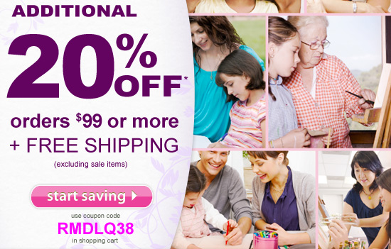 Mother's Day Special: Additional 20% Off $99 or more plus free shipping.