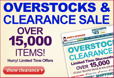 Overstocks and clearance sale