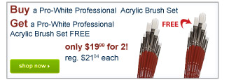 Buy a tPro-White Professional  Acrylic Brush SetGet a Pro-White ProfessionalAcrylic Brush Set FREE - Shop Now
