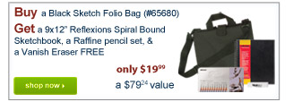 Buy a Black Sketch Folio Bag (#65680)Get a 9x12
